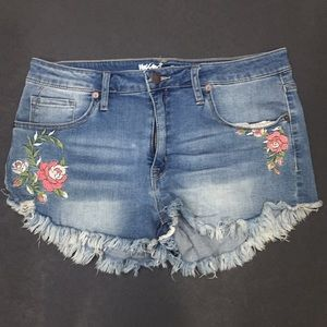 High Rise Floral Shorts